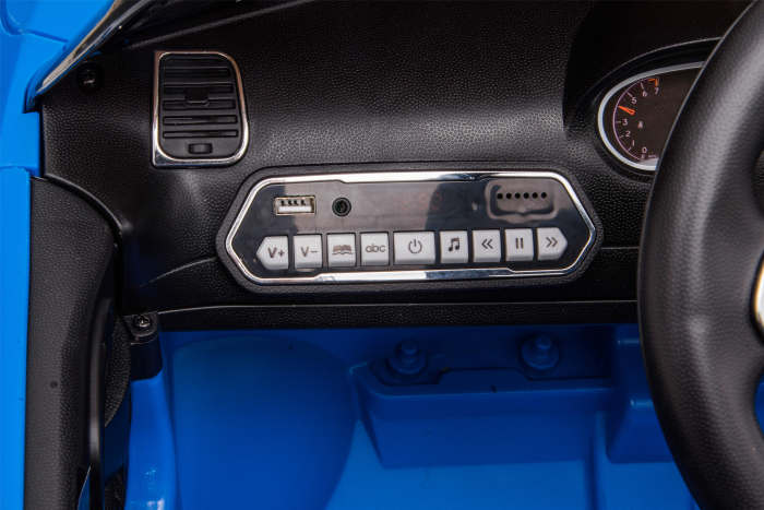 Masinuta electrica Premier Jeep Grand Cherokee, 12V, roti cauciuc EVA, scaun piele ecologica, albastru [22]