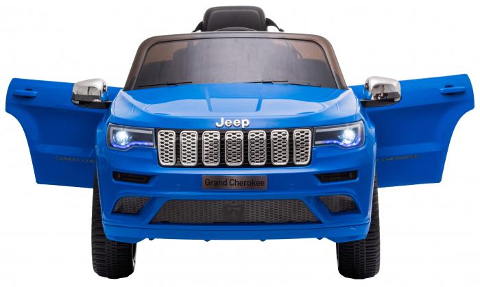 Masinuta electrica Premier Jeep Grand Cherokee, 12V, roti cauciuc EVA, scaun piele ecologica, albastru [8]