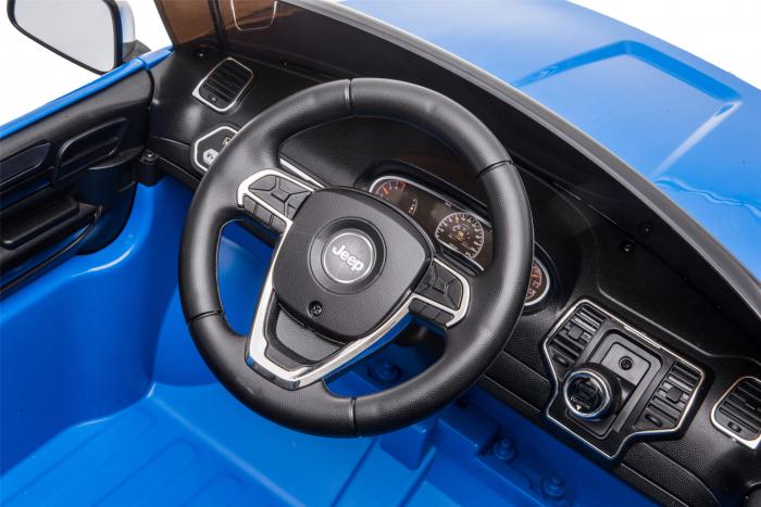 Masinuta electrica Premier Jeep Grand Cherokee, 12V, roti cauciuc EVA, scaun piele ecologica, albastru [18]