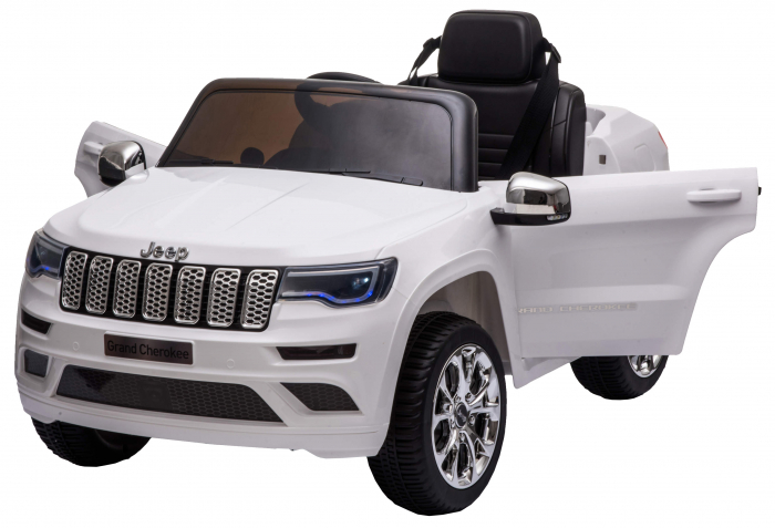Masinuta electrica Premier Jeep Grand Cherokee, 12V, roti cauciuc EVA, scaun piele ecologica, alb [13]