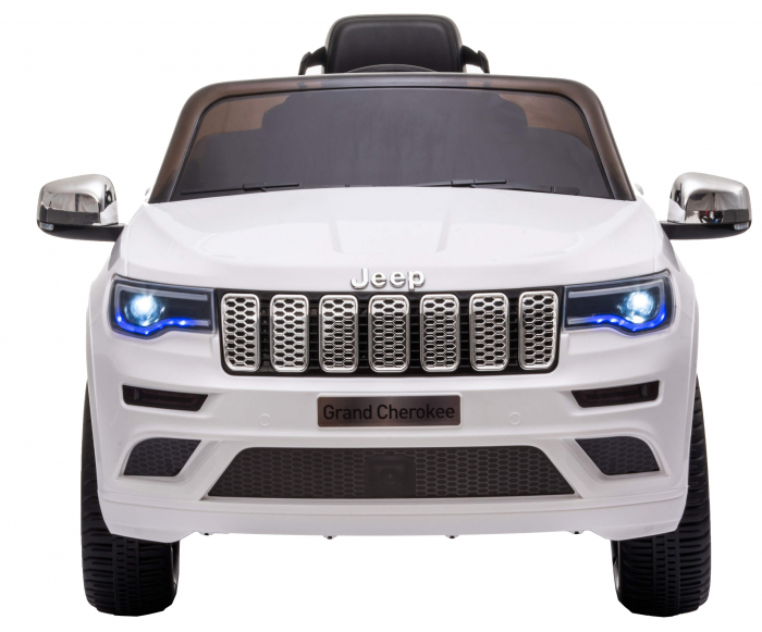Masinuta electrica Premier Jeep Grand Cherokee, 12V, roti cauciuc EVA, scaun piele ecologica, alb [2]