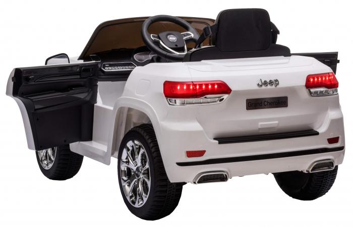 Masinuta electrica Premier Jeep Grand Cherokee, 12V, roti cauciuc EVA, scaun piele ecologica, alb [11]