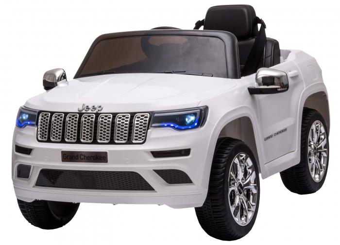 Masinuta electrica Premier Jeep Grand Cherokee, 12V, roti cauciuc EVA, scaun piele ecologica, alb [3]