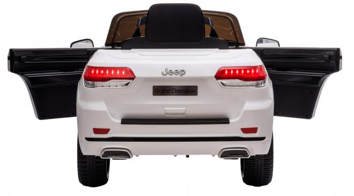 Masinuta electrica Premier Jeep Grand Cherokee, 12V, roti cauciuc EVA, scaun piele ecologica, alb [12]