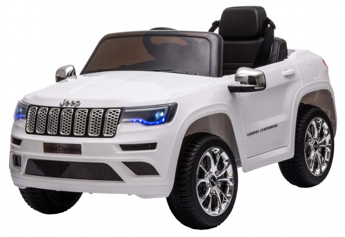 Masinuta electrica Premier Jeep Grand Cherokee, 12V, roti cauciuc EVA, scaun piele ecologica, alb [4]