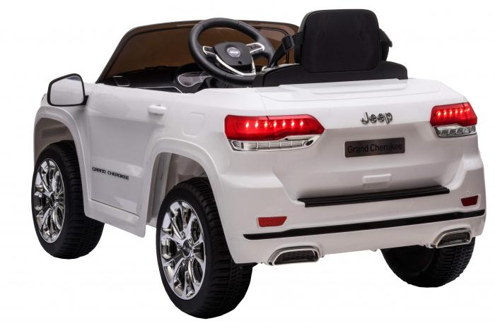 Masinuta electrica Premier Jeep Grand Cherokee, 12V, roti cauciuc EVA, scaun piele ecologica, alb [7]