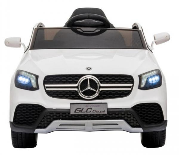 Masinuta electrica Premier Mercedes GLC Concept Coupe, 12V, roti cauciuc EVA, scaun piele ecologica, alb [5]