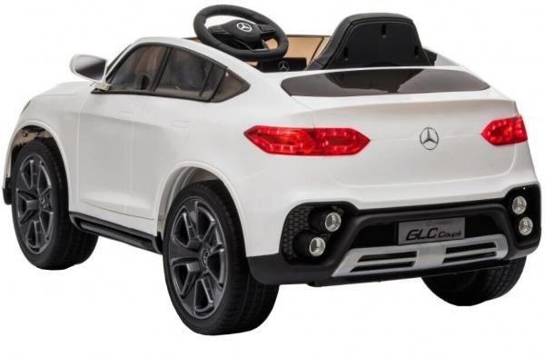 Masinuta electrica Premier Mercedes GLC Concept Coupe, 12V, roti cauciuc EVA, scaun piele ecologica, alb [6]