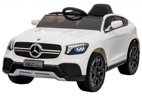Masinuta electrica Premier Mercedes GLC Concept Coupe, 12V, roti cauciuc EVA, scaun piele ecologica, alb [0]