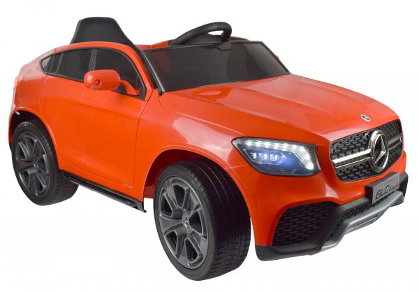 Masinuta electrica Premier Mercedes GLC Concept Coupe, 12V, roti cauciuc EVA, scaun piele ecologica, rosu 12