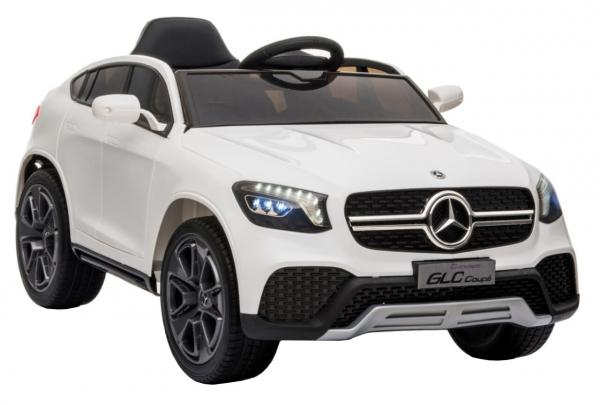 Masinuta electrica Premier Mercedes GLC Concept Coupe, 12V, roti cauciuc EVA, scaun piele ecologica, alb [1]
