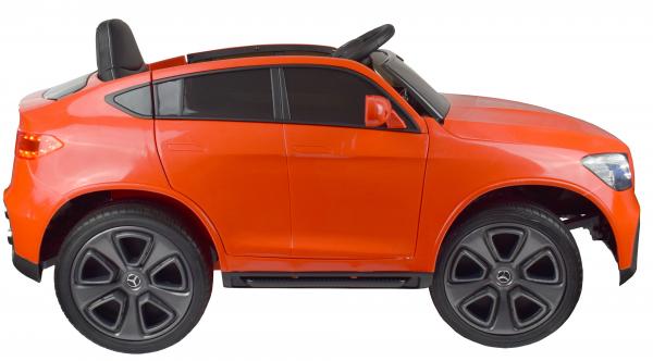 Masinuta electrica Premier Mercedes GLC Concept Coupe, 12V, roti cauciuc EVA, scaun piele ecologica, rosu 13