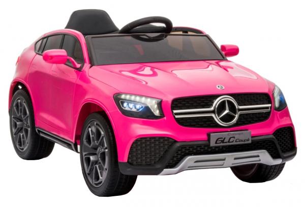 Masinuta electrica Premier Mercedes GLC Concept Coupe, 12V, roti cauciuc EVA, scaun piele ecologica, roz 1