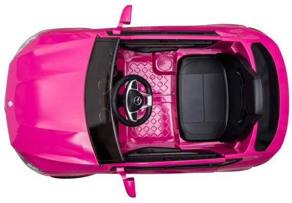 Masinuta electrica Premier Mercedes GLC Concept Coupe, 12V, roti cauciuc EVA, scaun piele ecologica, roz 7
