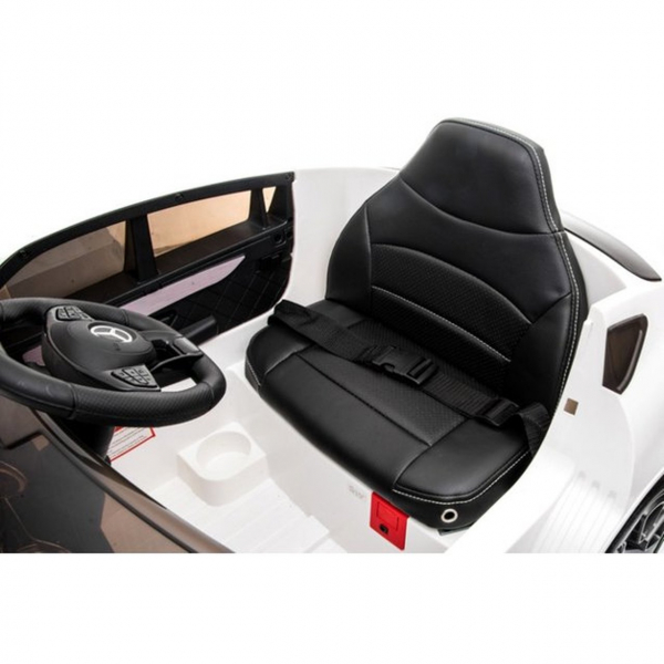 Masinuta electrica Premier Mercedes GLC Concept Coupe, 12V, roti cauciuc EVA, scaun piele ecologica, alb [3]