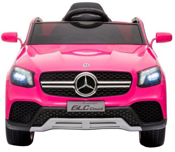 Masinuta electrica Premier Mercedes GLC Concept Coupe, 12V, roti cauciuc EVA, scaun piele ecologica, roz 5