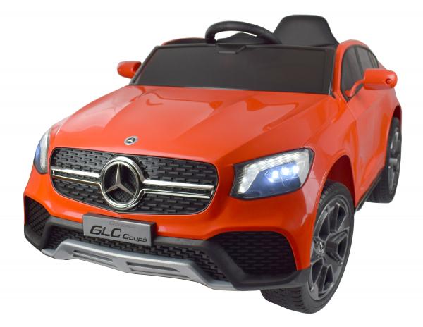 Masinuta electrica Premier Mercedes GLC Concept Coupe, 12V, roti cauciuc EVA, scaun piele ecologica, rosu 9