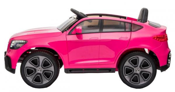 Masinuta electrica Premier Mercedes GLC Concept Coupe, 12V, roti cauciuc EVA, scaun piele ecologica, roz 2