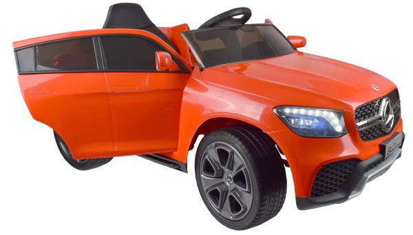 Masinuta electrica Premier Mercedes GLC Concept Coupe, 12V, roti cauciuc EVA, scaun piele ecologica, rosu 17
