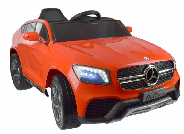 Masinuta electrica Premier Mercedes GLC Concept Coupe, 12V, roti cauciuc EVA, scaun piele ecologica, rosu 11