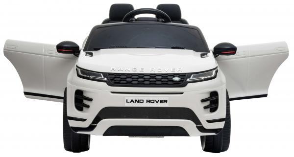 Masinuta electrica Premier Range Rover Evoque, 12V, roti cauciuc EVA, scaun piele ecologica, alb [9]