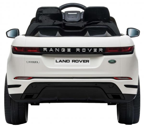 Masinuta electrica Premier Range Rover Evoque, 12V, roti cauciuc EVA, scaun piele ecologica, alb [6]
