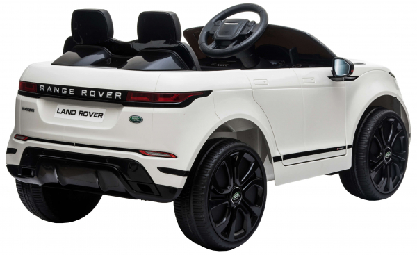 Masinuta electrica Premier Range Rover Evoque, 12V, roti cauciuc EVA, scaun piele ecologica, alb [7]