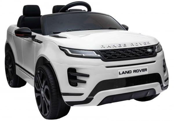 Masinuta electrica Premier Range Rover Evoque, 12V, roti cauciuc EVA, scaun piele ecologica, alb [13]