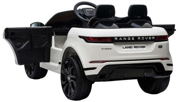 Masinuta electrica Premier Range Rover Evoque, 12V, roti cauciuc EVA, scaun piele ecologica, alb [11]