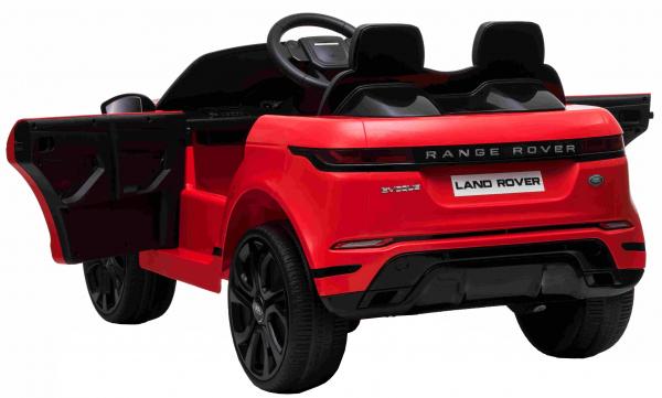 Masinuta electrica Premier Range Rover Evoque, 12V, roti cauciuc EVA, scaun piele ecologica, rosu [3]
