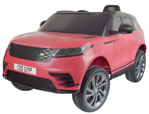Masinuta electrica Premier Range Rover Velar, 12V, roti cauciuc EVA, scaun piele ecologica, roz [0]