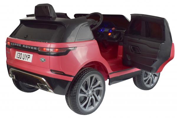 Masinuta electrica Premier Range Rover Velar, 12V, roti cauciuc EVA, scaun piele ecologica, roz [5]