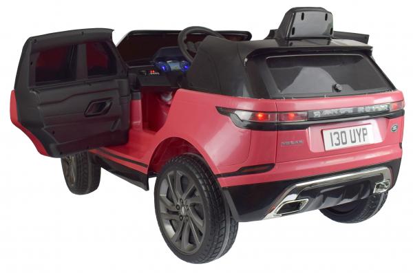 Masinuta electrica Premier Range Rover Velar, 12V, roti cauciuc EVA, scaun piele ecologica, roz [3]