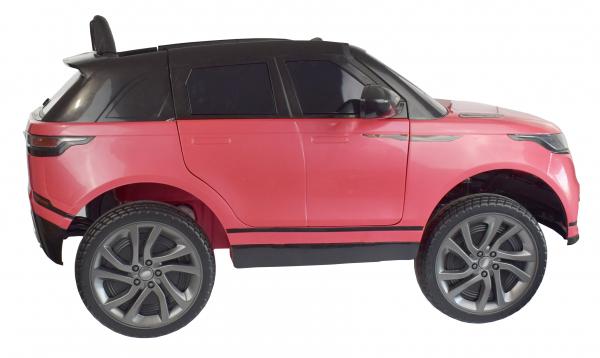 Masinuta electrica Premier Range Rover Velar, 12V, roti cauciuc EVA, scaun piele ecologica, roz [9]
