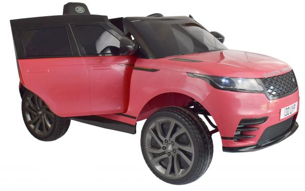 Masinuta electrica Premier Range Rover Velar, 12V, roti cauciuc EVA, scaun piele ecologica, roz [6]