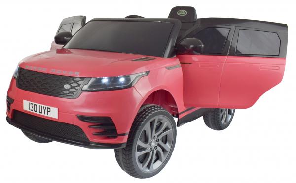 Masinuta electrica Premier Range Rover Velar, 12V, roti cauciuc EVA, scaun piele ecologica, roz [7]