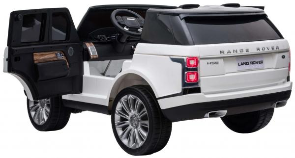 Masinuta electrica Premier Range Rover Vogue HSE, 12V, 2 locuri, roti cauciuc EVA, scaun piele ecologica, alb 11