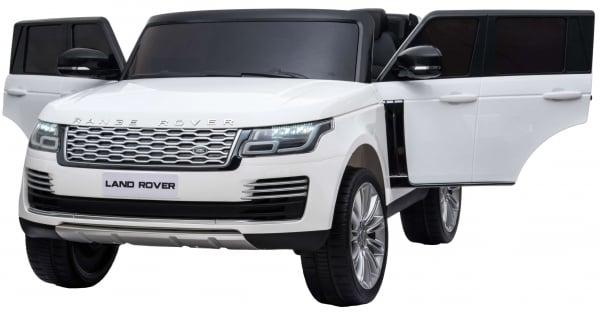 Masinuta electrica Premier Range Rover Vogue HSE, 12V, 2 locuri, roti cauciuc EVA, scaun piele ecologica, alb 9