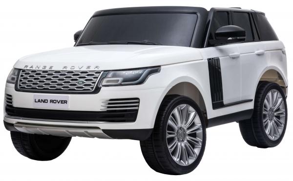 Masinuta electrica Premier Range Rover Vogue HSE, 12V, 2 locuri, roti cauciuc EVA, scaun piele ecologica, alb 16