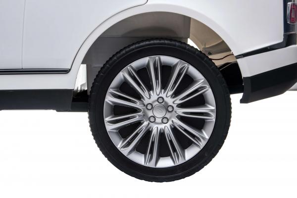 Masinuta electrica Premier Range Rover Vogue HSE, 12V, 2 locuri, roti cauciuc EVA, scaun piele ecologica, alb 18