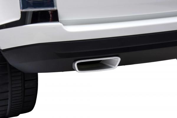 Masinuta electrica Premier Range Rover Vogue HSE, 12V, 2 locuri, roti cauciuc EVA, scaun piele ecologica, alb 21