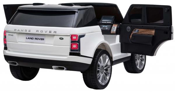 Masinuta electrica Premier Range Rover Vogue HSE, 12V, 2 locuri, roti cauciuc EVA, scaun piele ecologica, alb 13