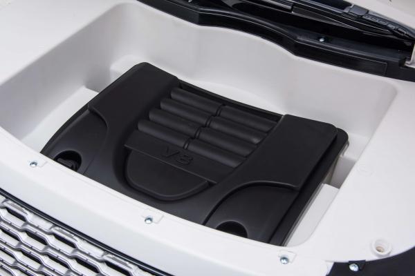 Masinuta electrica Premier Range Rover Vogue HSE, 12V, 2 locuri, roti cauciuc EVA, scaun piele ecologica, alb 28
