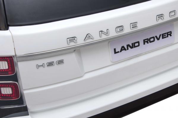 Masinuta electrica Premier Range Rover Vogue HSE, 12V, 2 locuri, roti cauciuc EVA, scaun piele ecologica, alb 20