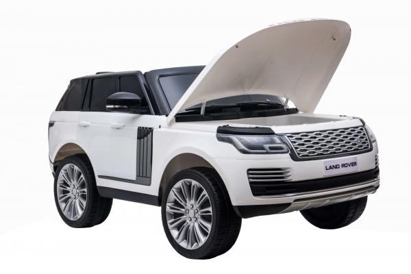 Masinuta electrica Premier Range Rover Vogue HSE, 12V, 2 locuri, roti cauciuc EVA, scaun piele ecologica, alb 26