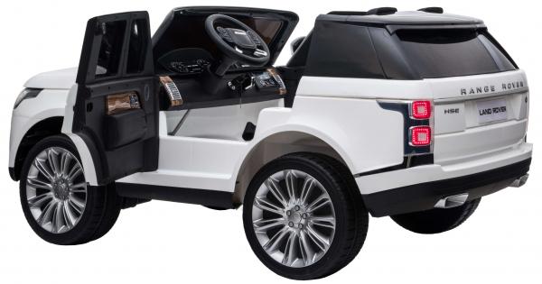 Masinuta electrica Premier Range Rover Vogue HSE, 12V, 2 locuri, roti cauciuc EVA, scaun piele ecologica, alb 10