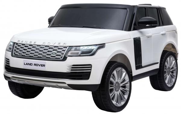 Masinuta electrica Premier Range Rover Vogue HSE, 12V, 2 locuri, roti cauciuc EVA, scaun piele ecologica, alb 0