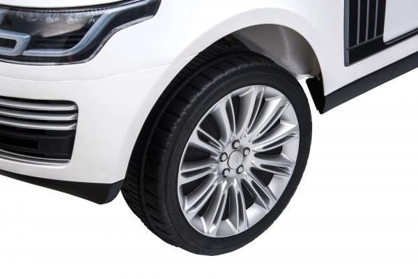 Masinuta electrica Premier Range Rover Vogue HSE, 12V, 2 locuri, roti cauciuc EVA, scaun piele ecologica, alb 22