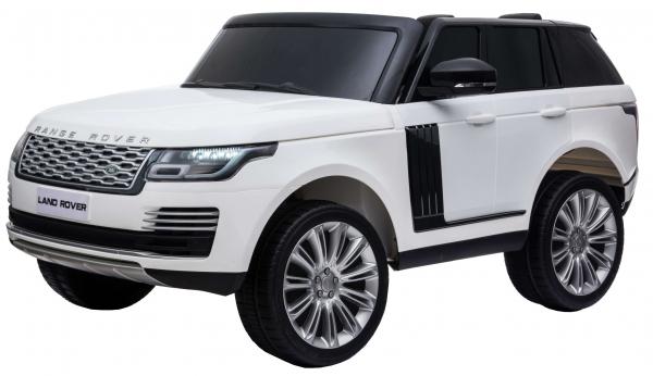 Masinuta electrica Premier Range Rover Vogue HSE, 12V, 2 locuri, roti cauciuc EVA, scaun piele ecologica, alb 2