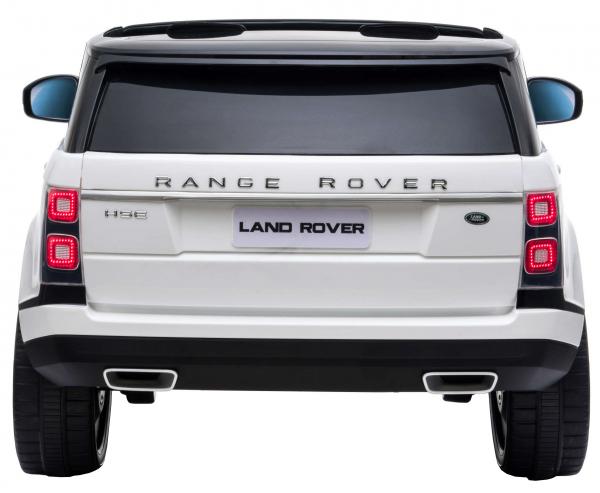 Masinuta electrica Premier Range Rover Vogue HSE, 12V, 2 locuri, roti cauciuc EVA, scaun piele ecologica, alb 5